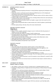 sle resume for business analysts duties of executor of trust content analyst resume sles velvet jobs