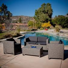 Patio Furniture Set by Shop Best Selling Home Decor Puerta 4 Piece Wicker Patio