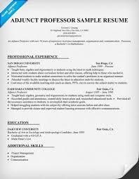adjunct professor cover letter sample sample cover letter for