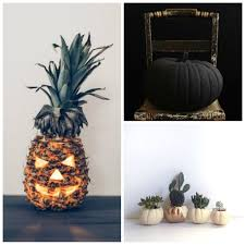 modern halloween decor pumpkins u2014 oil u0026 grain