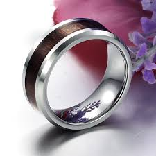 Personalized Wedding Band Men U0027s Personalized Pure Tungsten Steel Wedding Band Ring 5936 At