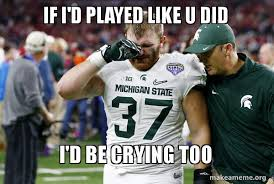 Michigan State Memes - 20 best memes of michigan state getting crushed by alabama in