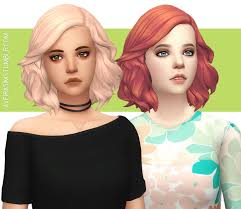 sims 4 hair cc aveira s sims 4 kiara s medium soft wavy hair recolor