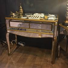 Venetian Console Table Venetian Gold 2 Drawer Mirrored Console Table Picture Home