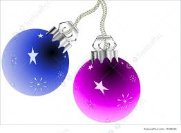 christmas ornaments illustration