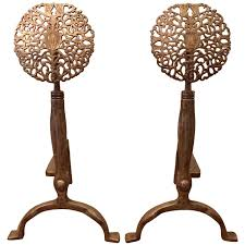 arts and crafts andirons 49 for sale at 1stdibs