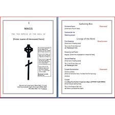 template for memorial service program 30 images of catholic memorial service program template infovia net