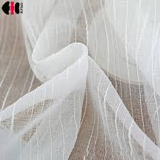 chambre ou accueil textile frange rideau blanc tulle sheer rideau pour chambre