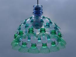 Plastic Chandelier Chandeliers Constructed From Recycled Plastic Pet Bottles By