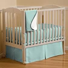 Crib Mini Solid Seafoam Aqua Mini Crib Bedding Carousel Designs