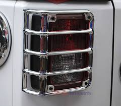 Jeep Jk Tail Light Covers 2x Upgraded Black Chrome Taillight Rear Light Lamp Cover