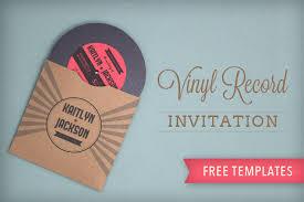 vinyl record wedding invitation template print