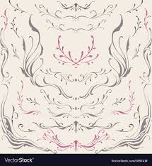 floral frame and border ornaments royalty free vector image