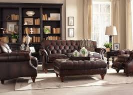 Tufted Brown Leather Sofa Brown Top Grain Button Tufted Leather Sofa