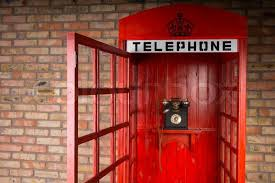 telephone booth up of telephone booth with fashioned telephone and