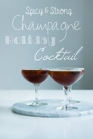 holiday champagne cocktails liquorice champagne cocktail modern wifestyle