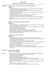 sales manager resume international sales manager resume sles velvet
