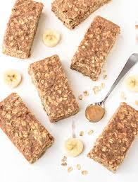 breakfast bar peanut butter banana honey oatmeal breakfast bars well plated by