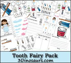 free tooth fairy pack 3 dinosaurs