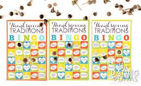 thanksgiving traditions bingo the dating divas