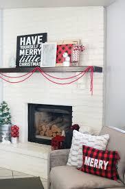 Buffalo Home Decor Buffalo Check Holiday Mantel