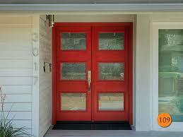 modern style 5 ft 6 8 fiberglass double doors therma tru