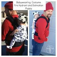 family themed and babywearing halloween costume wordless