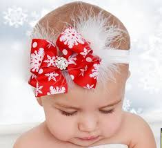 online shop twdvs kids christmas headband feather bow snow flower