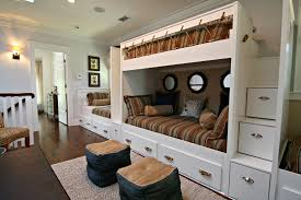 Free Bunk Bed Plans Pdf by Diy Porthole Mirror Custom Built In Bunks In Loft Lake House