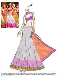 designer lehenga sketches google search indian wear sketches