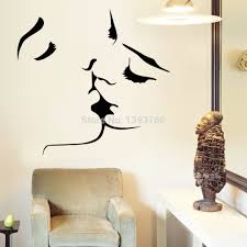 popular wall stickers home decor kiss couple buy cheap wall couple kiss wall stickers home decor 8468 wedding decoration wall sticker for bedroom decals mural