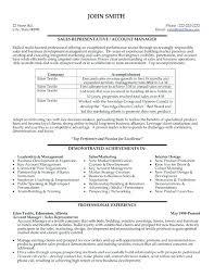 resume sample for sales representative resume sample for retail