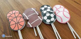cupcake toppers all star sports shapes baby shower or