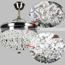 led ceiling fan with remote retractable crystal led ceiling fan with remote controlling