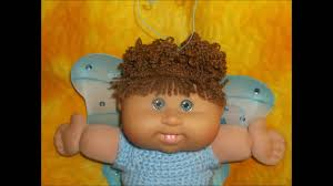 cabbage patch kid wearing her homemade fairy costume for halloween