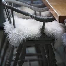 Lambskin Rugs Furniture Sheepskin Chair With Cushy Comfort And Modern Style