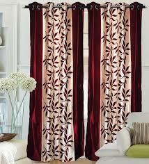 buy fantasy home decor premium border flower curtain 4 7 maroon buy fantasy home decor premium border flower curtain 4 7 maroon 2 curtains online at low prices in india amazon in
