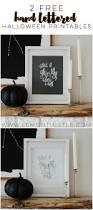 a ghostly hand lettered halloween printable classy halloween