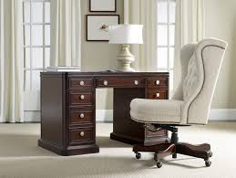 double pedestal kneehole desk with locking file drawers by hooker