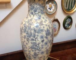 Blue Flower Vases Blue Flower Vase Etsy