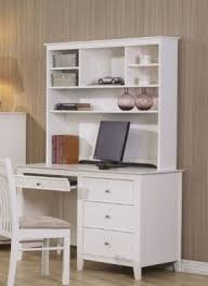 White Computer Desk With Hutch Wood Computer Desk With Hutch Foter