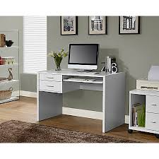 Computer Desk Tray Awesome Monarch Specialties Computer Desk With Keyboard Tray White