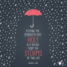 shabbat l keeping the sabbath day holy is a refuge from the storms of this