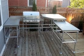 outdoor küche outdoor küche aus rohrverbindern und rohren projekte was