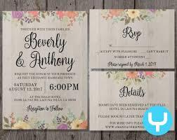 wedding invitation sets wedding invitation details printable floral wedding