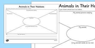 animals in their habitats worksheet science year 1 habitats