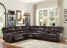 Leather Motion Sectional Sofa Acme 54155 Saul 6pcs Espresso Leather Power Motion Sectional Sofa