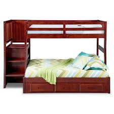 Ranger Twin Over Full Bunk Bed With Storage Stairs  Underbed - Full bunk bed with stairs