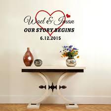 chambre pour amants personnalisé ou amant nom personnalisé coeur vinyle wall