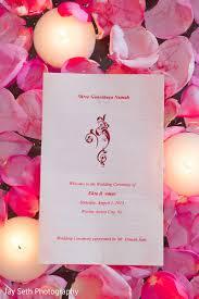 indian wedding programs jersey city nj indian wedding by seth photography maharani
